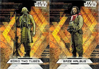 STAR WARS Rogue One 2: Lot 2 Character Sticker: Baze Malbus & Edrio Two Tube