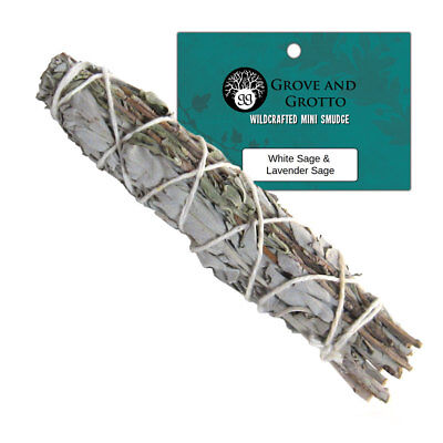 "White Sage and Wild Lavender Blend Smudge Stick 4"" Smudging Wand by New Age"