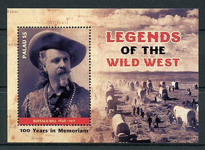 Palau 2017 MNH Wild West Legends Buffalo Bill 1v S/S Stamps