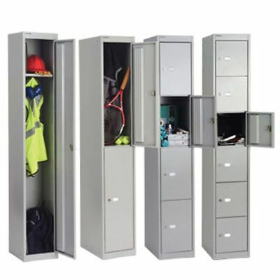 Genuine! Bisley Top Quality Ex Depth Lockers 1,2, 4 & 6 Door Lockers Goose Grey