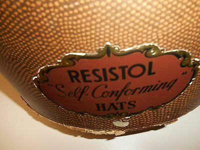 Resistol Vintage Hat Box Self Conforming Strap Closer Storage Box