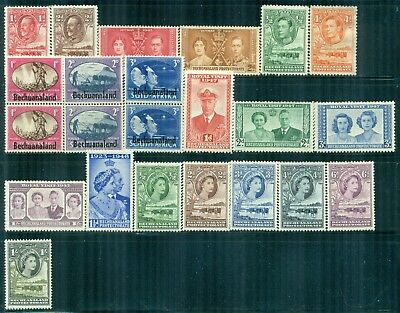 BECHUANALAND PROTECTORATE Collection of 12 MH 1888-1953 Era All Different