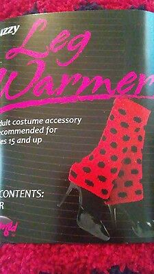 Leg warmers red and black adult