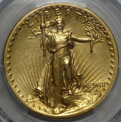 1907 Saint Gaudens $20 Double Eagle, RARE High Relief Issue, PCGS Certified AU