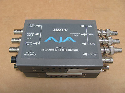 AJA HD10A HDTV 10 Bit HD Analog to HD-SDI Digital Mini Converter