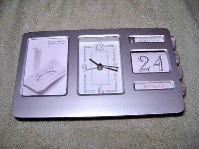 Bank of America Perpetual  Desk Clock/Calender with Photo