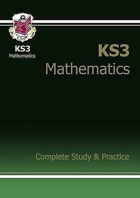 CGP Books-Ks3 Maths Complete Study & Practice  Years 7 8 & 9  NEW