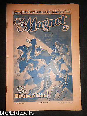 The Magnet; Billy Bunter's Own Paper - WWII Era Boy's Comic - January 6th 1940