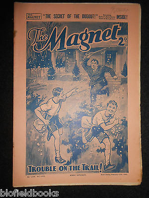 The Magnet; Billy Bunter's Own Paper - WWII Era Boy's Comic - February 10th 1940