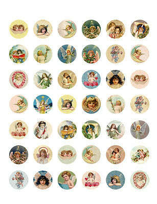 picture relating to Printable Bottlecap Images identified as Traditional/ ANTIQUE ANGELS Cherubs PRINTABLE Bottle Cap Illustrations or photos ~ 42 Diff. Options
