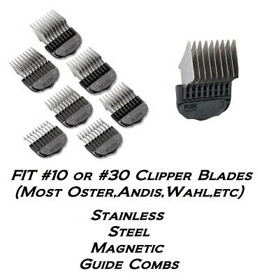 ANDIS Stainless Steel Clipper Snap On Guard GUIDE COMB*Fit #10 Blade,Oster,Wahl