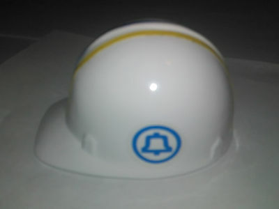 Miniature Vintage AT&T Telephone Company Bell Hard Hat Cast Metal Advertising