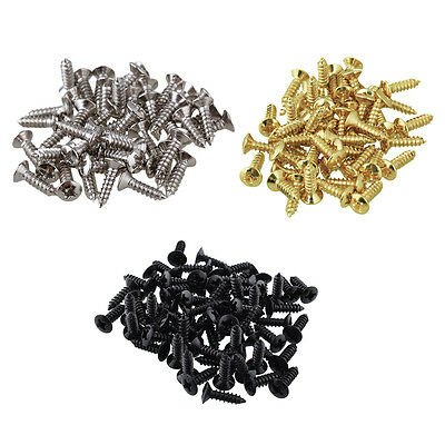 Quality Electric Guitar Pickguard Scratchplate Screws - Chrome / Black / Gold