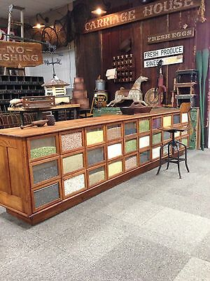 Antique General Store (Seed/Bean) Dry Goods Counter (12 Feet)