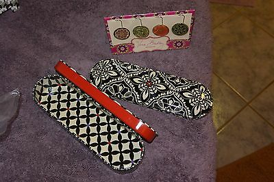 Vera Bradley Paper Clips and Pencil Tin in barcelona Lot