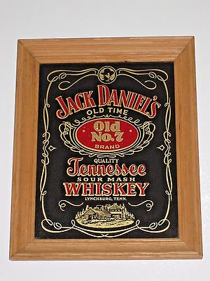 Jack Daniel's Tennessee Whiskey Advertising Sign in Wood Frame