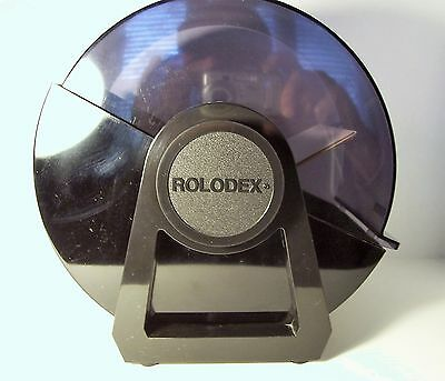 Jumbo Rolodex DRF-35C Black Plastic Covered Rotary File Card 3x5 Made in USA