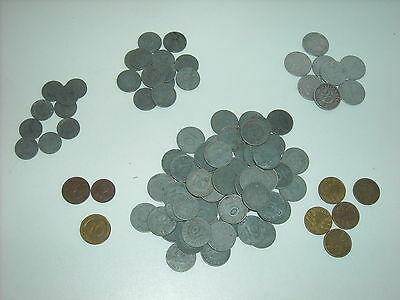 Lot 97 Deutsches Pfennig Coins 1,2,5,10,50~88 Third Reich/Swast 8 Pre War 1 post