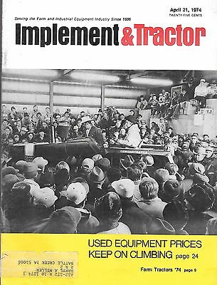Apr. 21, 1974 Implement & Tractor Magazine, 4 Page John Deere Color Ad