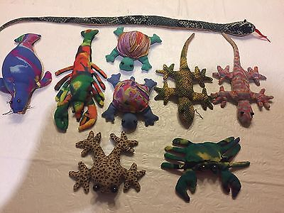SAND-FILLED ANIMALS Lot of 9