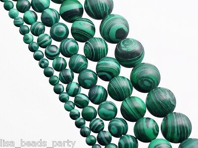 50pcs 4mm Round Bright Green Malachite Gemstone Loose Spacer Beads Jewelry Charm
