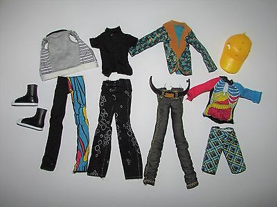 Bulk Lot of Monster High Boy Doll Clothes inc Shoes & a Hat