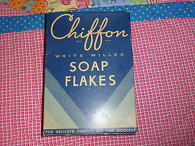 Vintage And Rare Chiffon White Milled Soap Flakes (Full Box Of Soap Flakes) Rare