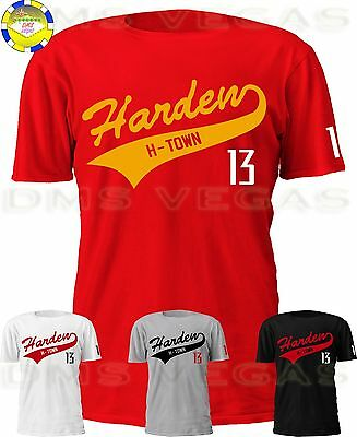 the latest 01425 74a65 Houston Rockets James Harden Baseball Tail Jersey Tee Shirt Men Size S-5XL