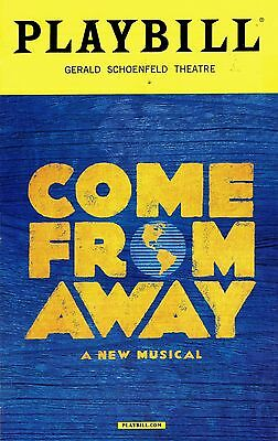 Playbill - Come From Away - April 2017