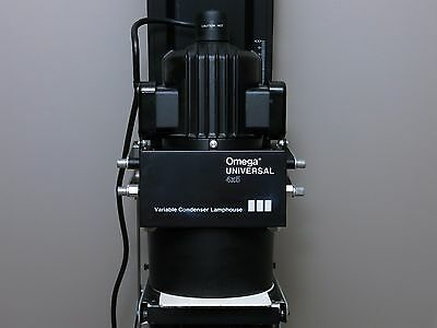 Omega D5-XL Universal 4x5 Enlarger & Variable Condenser DV Lamphouse Head Stand