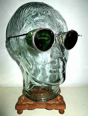 Antique Bausch and Lomb Ful Vue Green Safety Sunglasses Vintage Retro Ray Ban