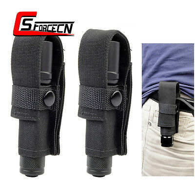 2X Travel Carry Tactical Flashlight Holster Holder Pouch Bag for Surefire G2 6P