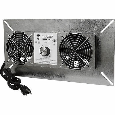 Tjernlund V2D UnderAire™ Crawl Space Ventilator-Deluxe Two-Fan 220 CFM