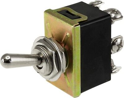 Dpdt 10A Metal Toggle Switch Screw Terminals On - On