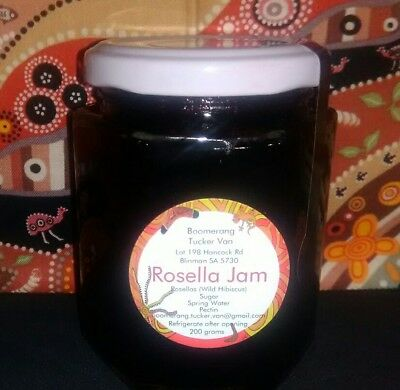SOLD OUT, AUSSIE ROSELLA (wild hibiscus) JAM, check out other Quandong products