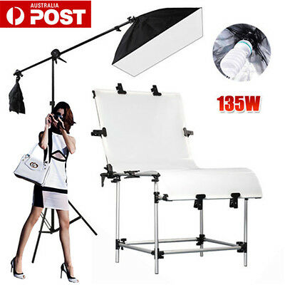 PRO.675W PHOTO Softbox Boom Arm Lighting Stand KIT Adjust Shooting Table Set.NEW