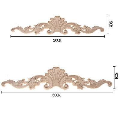 1Pc Wood Carved Corner Onlay Applique Frame Decor Furniture Home Craft Unpainted