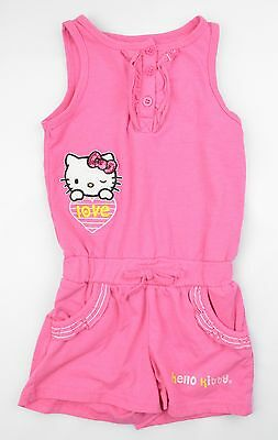 Girls Youth Hello Kitty Pink Romper Shorts Size 4T #AC12 J-T-P