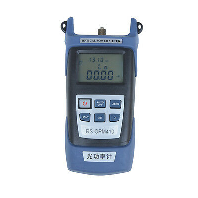 Fiber Optic Power Meter Tool Optical Tester SC/FC Adapters -70 to +10nm