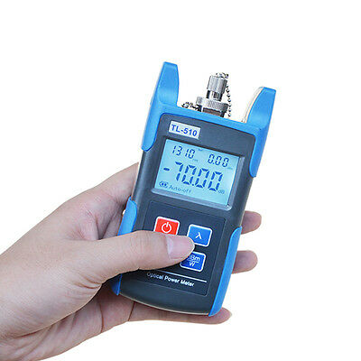 Fiber Optic Power Meter Tool Optical Tester SC/FC Adapters -70~+10dbm