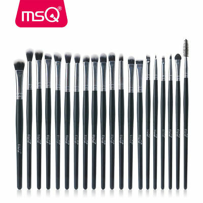 20PCs Eye Makeup BRUSHES Kit Set Powder Blusher Eyeshadow Eyeliner Lip Brush MSQ
