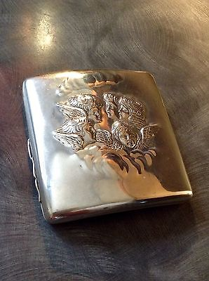 Beautiful Victorian Solid Silver Cigarette Case Birmingham 1898