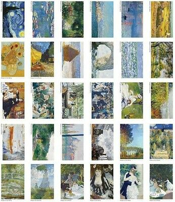 30pcs Vintage Postcard Famous oil painting series Picture Post Cards Box Set