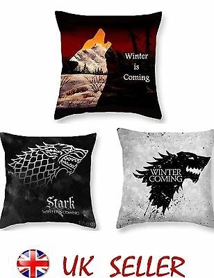 Cushion Cover Game Of Thrones Polyester Pillowcase Winter is Comming 8 Variation