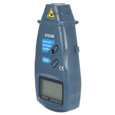Digital Electric Contact Speed Photo Tachometer Auto Rang Tester Meter DT-6236B
