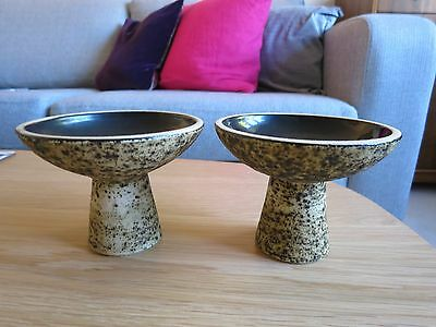 Pair Of Mid Century Modernist Studio Pottery Candlesticks