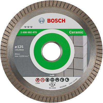 BOSCH Diamanttrennscheibe Best for Ceramic Extra-Clean Turbo, 125 x 22,23 mm