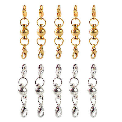 5x Strong Ball Magnetic Clasp Lobster Connector for Necklace Jewelry DIY