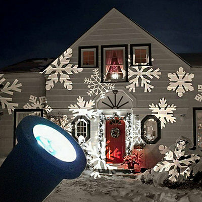 Waterproof Outdoor Christmas Lights Laser Projector Moving Lights Snow AU Plug