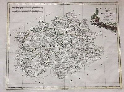Antique Original 18th Century map  Antonio Zatta  Venezia 1780